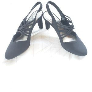 IMPO 8.5 Dress Heels Black Shoes Strappy